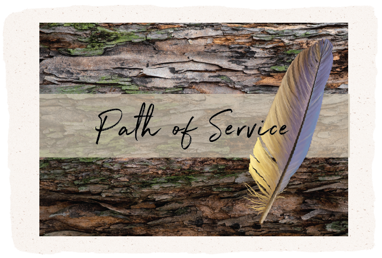 feather and bark, Path of Service, shamanic workshop retreat