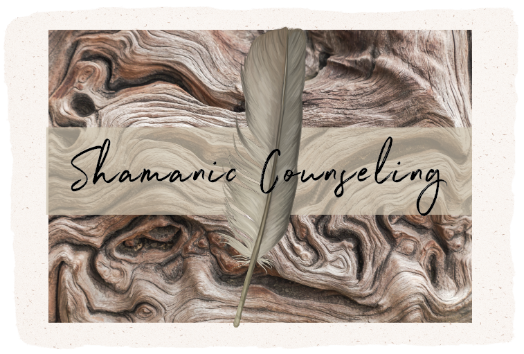 feather and knotted wood, shamanic counseling workshop retreat